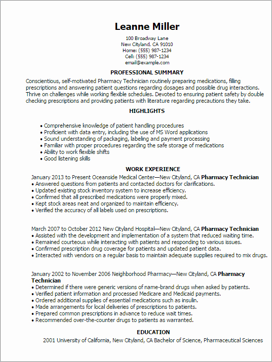 Pharmacy Tech Resume Samples Elegant Sample Pharmaceutical Data Entry Resume