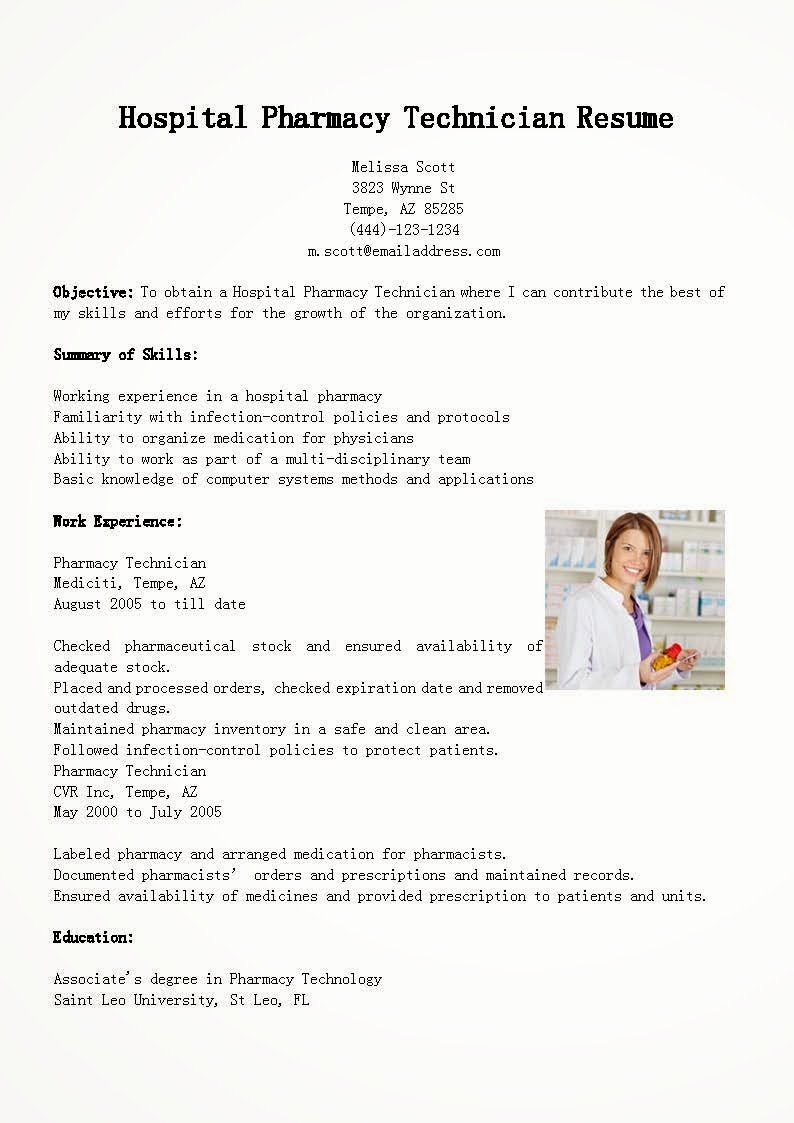 Pharmacy Tech Resume Samples Lovely Resume Samples Hospital Pharmacy Technician Resume Sample