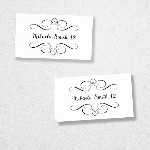 Place Card Template Word Awesome Printable Place Card Template Instant Download Escort Card