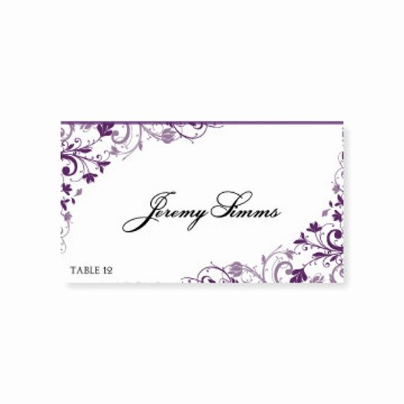 Place Card Template Word Best Of Instant Download Wedding Place Card by Diyweddingtemplates