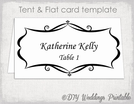 Place Card Template Word Best Of Place Card Template Tent and Flat Name Card Templates
