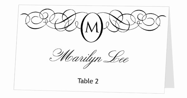 Place Card Template Word Fresh Avery Place Card Template Instant Download Escort Card