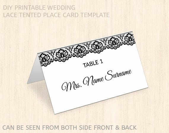 Place Card Template Word Inspirational Items Similar to Printable Wedding Place Card Template