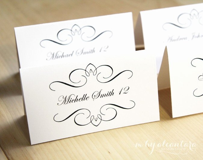 Place Card Template Word Inspirational Printable Place Card Template Instant Download Escort