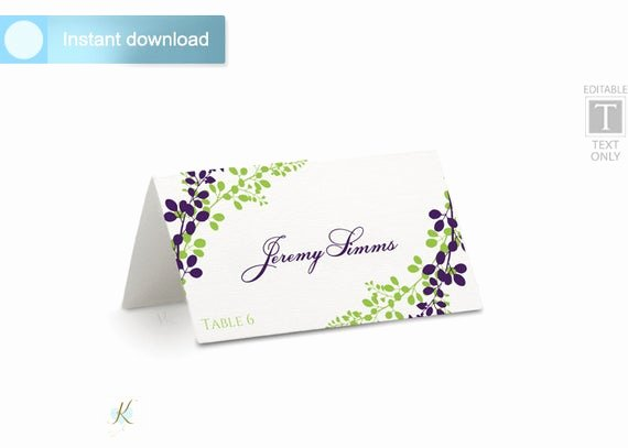 Place Card Template Word Inspirational Wedding Place Card Template Tent Download by Karmakweddings