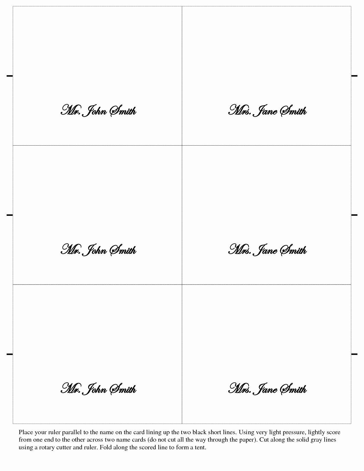Place Card Template Word Luxury Card Printable Gallery Category Page 42