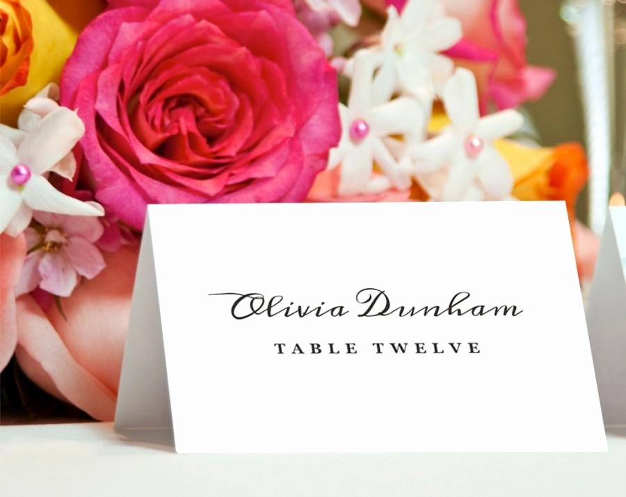 Place Card Template Word Luxury Invitation Printable Place Card Template Weddbook