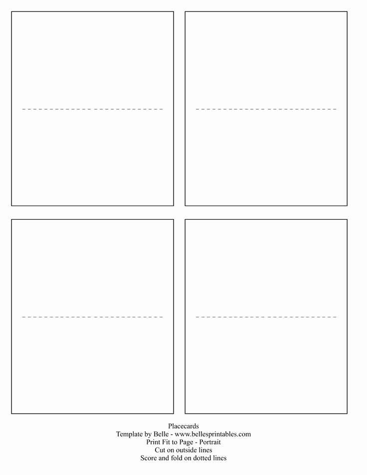 Place Card Template Word Unique Best 25 Free Place Card Template Ideas On Pinterest