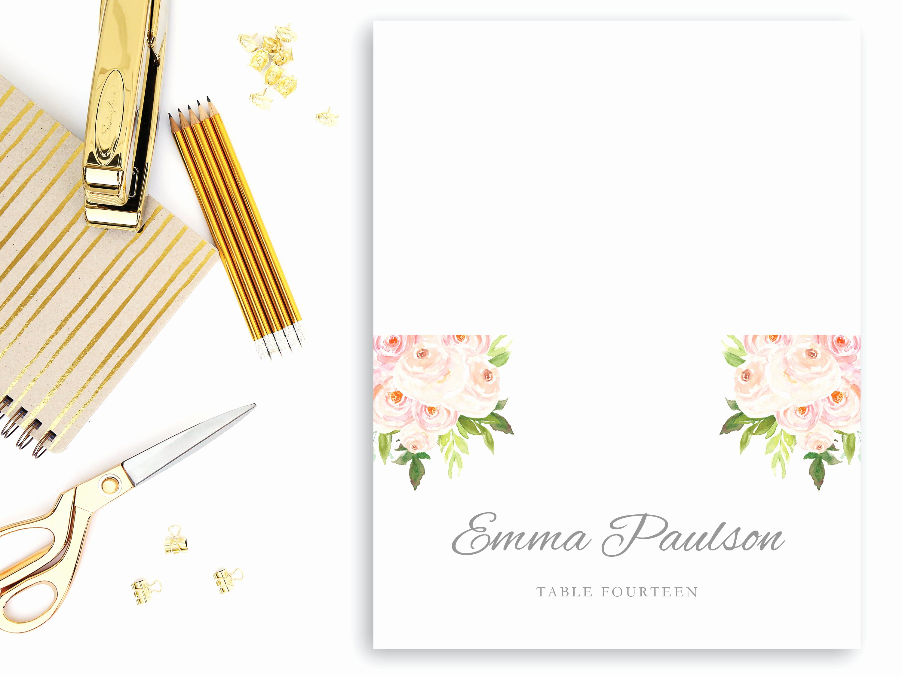 Place Card Template Word Unique Folded Place Card Template Editable Text Microsoft Word