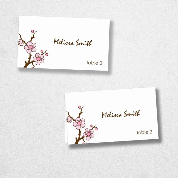 Place Card Template Word Unique Items Similar to Avery Place Card Template Instant