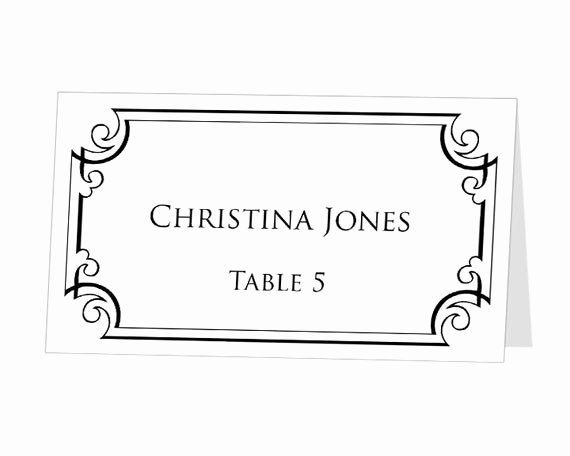 Place Card Template Word Unique Table Number Template Printable Instant Download for by 43lucy