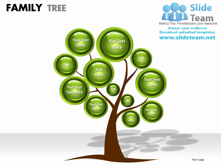 Powerpoint Family Tree Template Awesome Family Tree Powerpoint Presentation Slides Ppt Templates