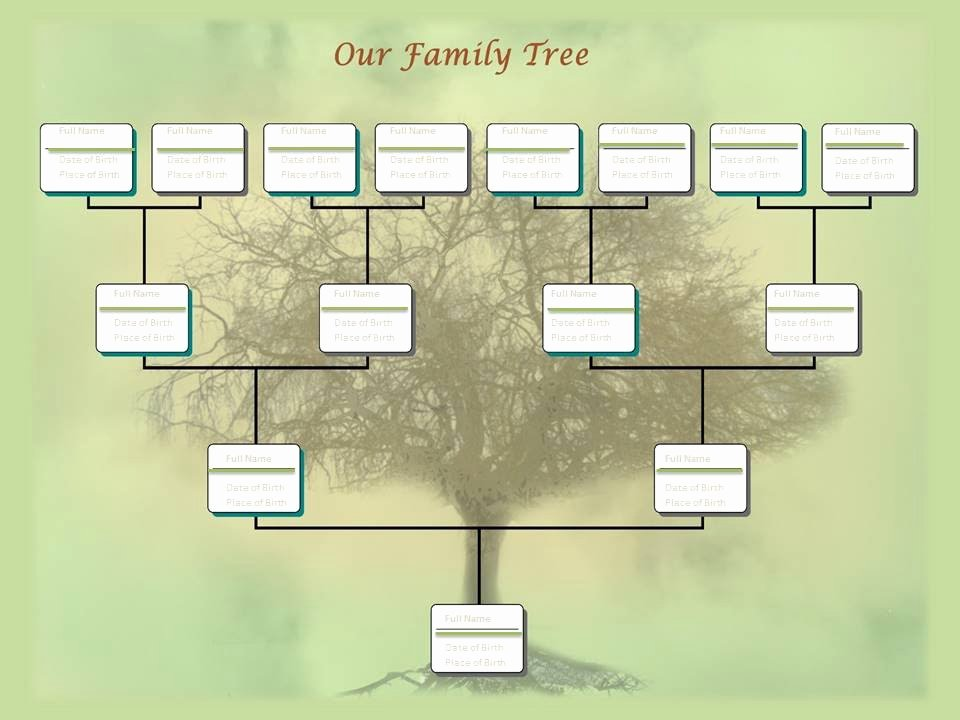 Powerpoint Family Tree Template Beautiful Family Tree Chart Template Example