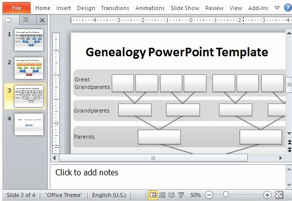 Powerpoint Family Tree Template Fresh Genealogy Tree Powerpoint Template