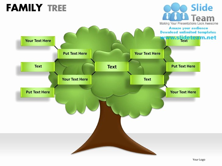 Powerpoint Family Tree Template Unique Family Tree Powerpoint Presentation Slides Ppt Templates