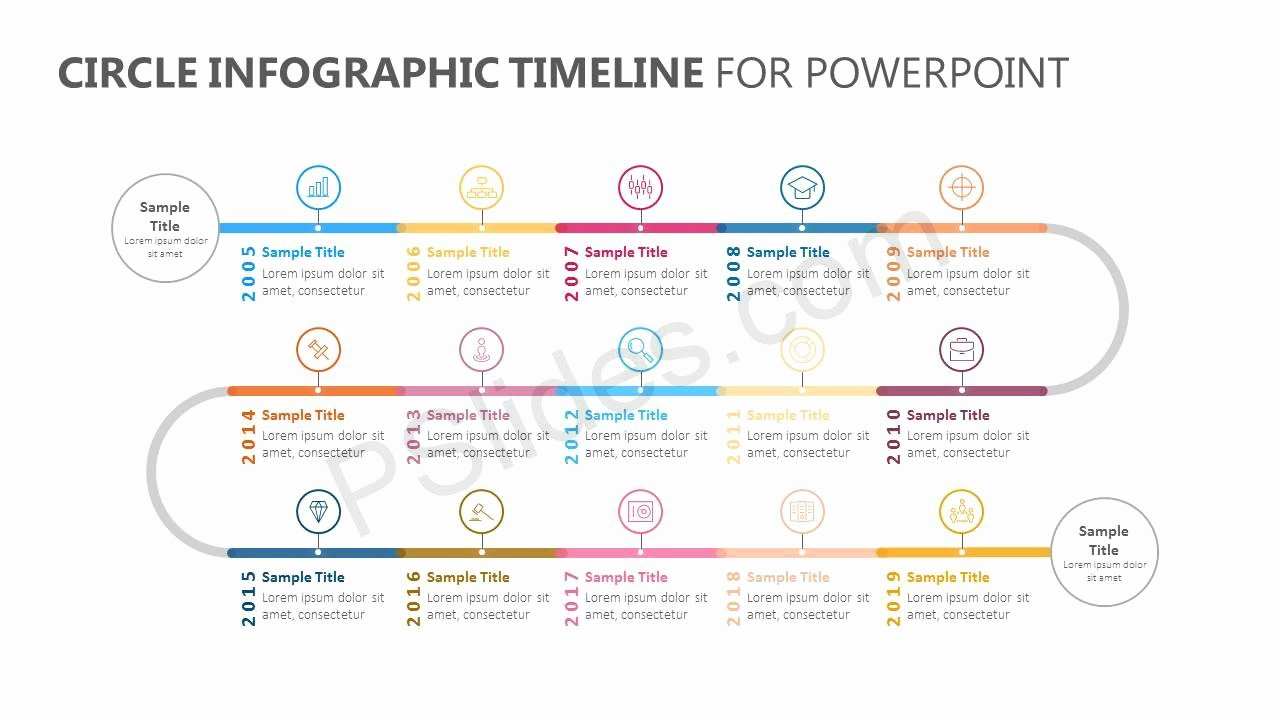 Powerpoint Timeline Template Free Elegant Circle Infographic Timeline for Powerpoint Pslides