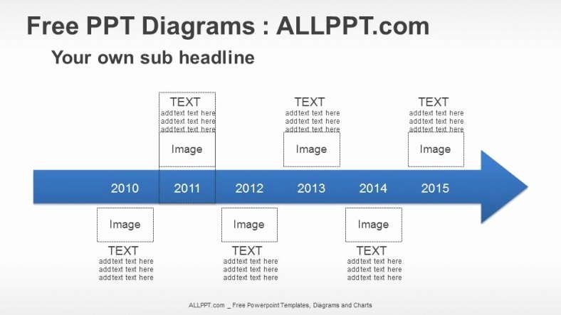 Powerpoint Timeline Template Free Fresh 6 Years Arrow Timeline Ppt Diagrams Download Free