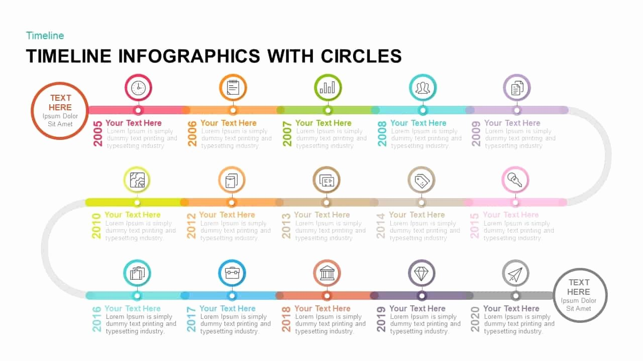 Powerpoint Timeline Template Free Fresh Timeline Infographics with Circles Powerpoint Template