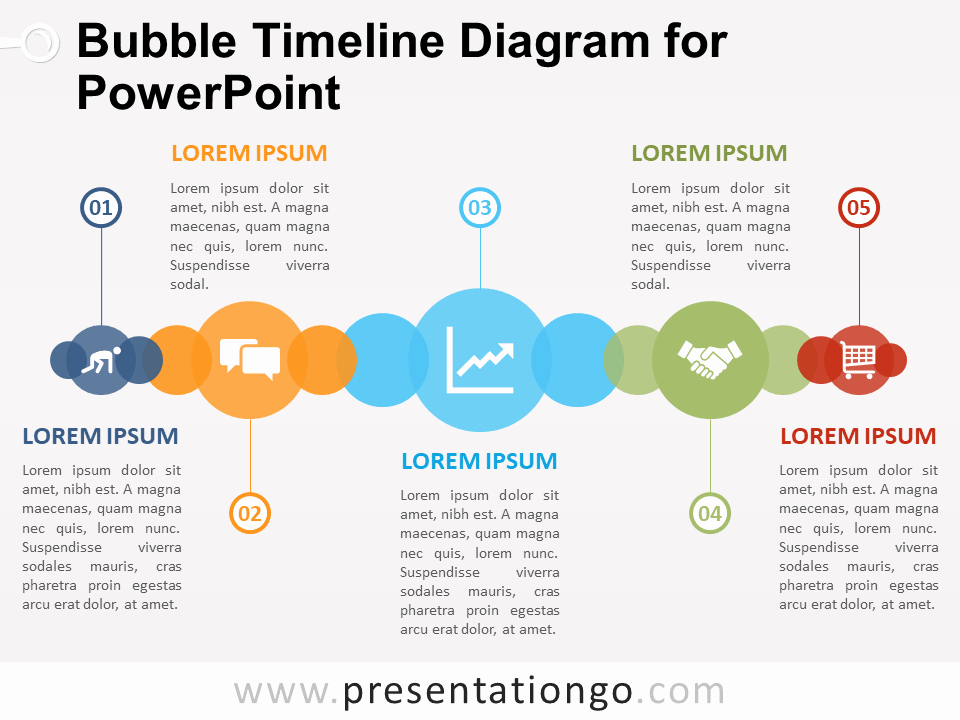 Powerpoint Timeline Template Free Inspirational Bubble Timeline Diagram for Powerpoint Presentationgo