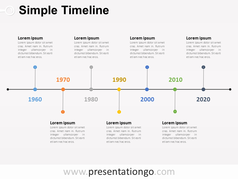 Powerpoint Timeline Template Free Inspirational Simple Timeline Powerpoint Diagram Presentationgo