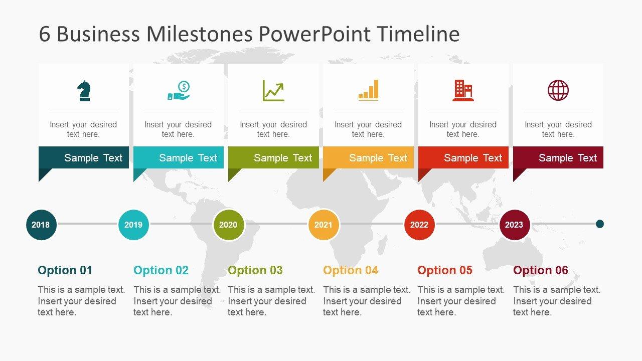 Powerpoint Timeline Template Free Luxury 6 Business Milestones Powerpoint Timeline Slidemodel