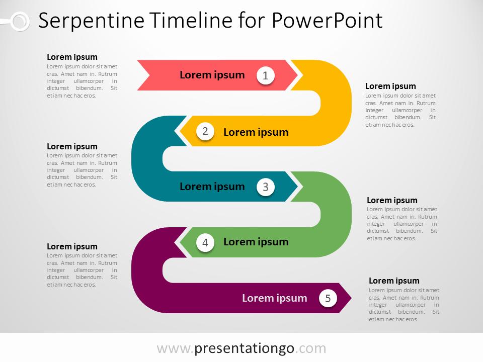 Powerpoint Timeline Template Free New Powerpoint Serpentine Timeline Presentationgo
