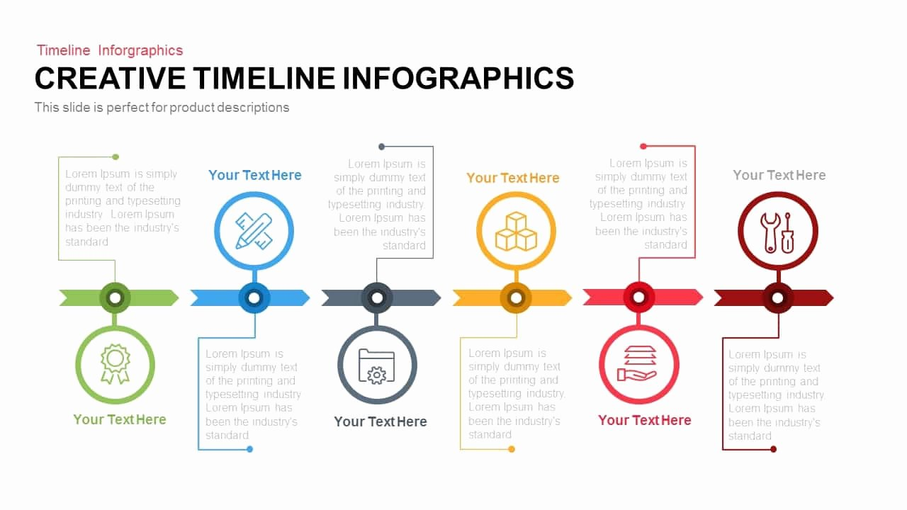 Powerpoint Timeline Template Free Unique Creative Infographics Timeline Powerpoint Template