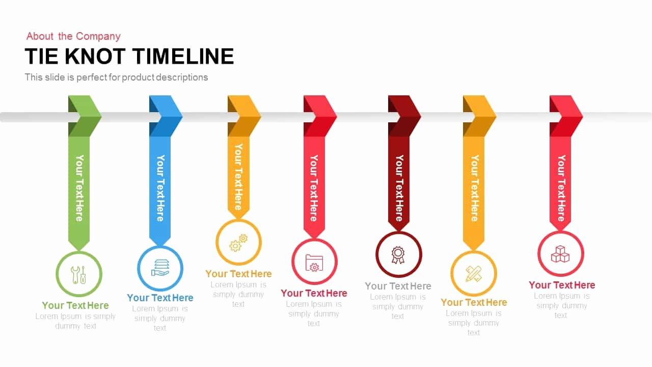 Powerpoint Timeline Template Free Unique Tie Knot Timeline Powerpoint Template and Keynote Slide