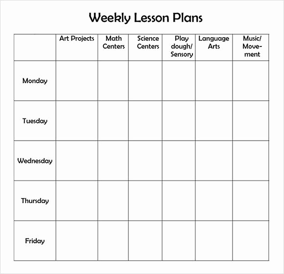 Pre Kindergarten Lesson Plan Template Awesome Free Printable Weekly Lesson Plan Template …