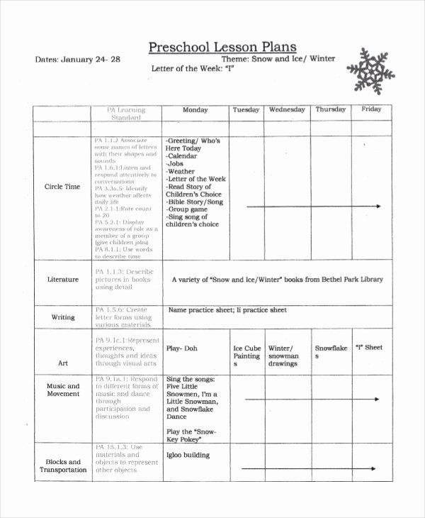 Pre Kindergarten Lesson Plan Template Luxury Preschool Lesson Plan Template 10 Free Word Pdf Psd