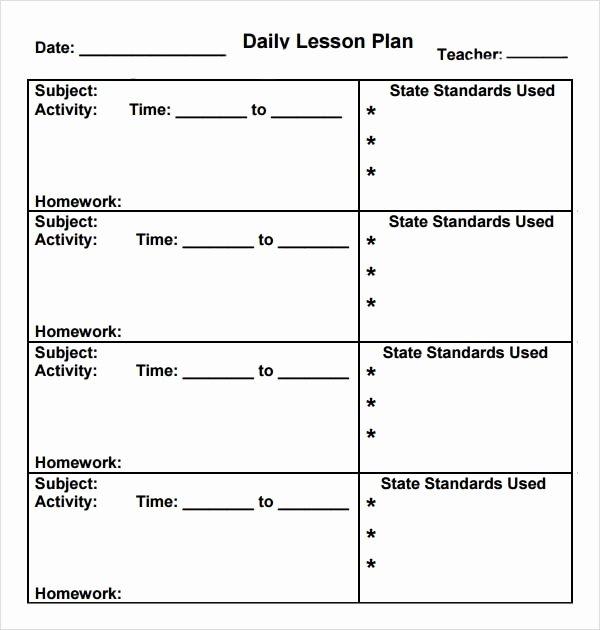 Pre Kindergarten Lesson Plan Template Unique Preschool Lesson Plan Template 7 Download Free