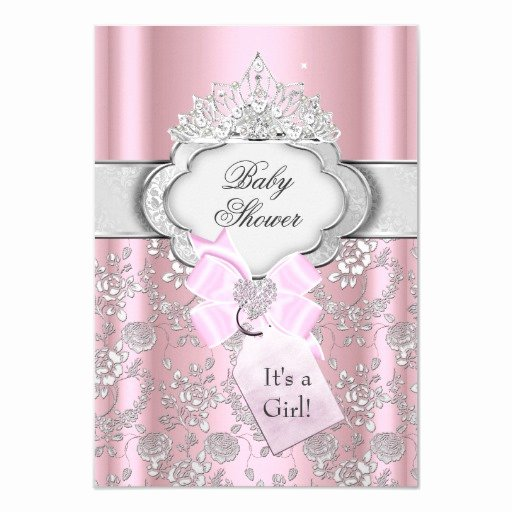 Princess Baby Shower Invitations Best Of Pretty Bow Tiara Princess Baby Shower Invitation