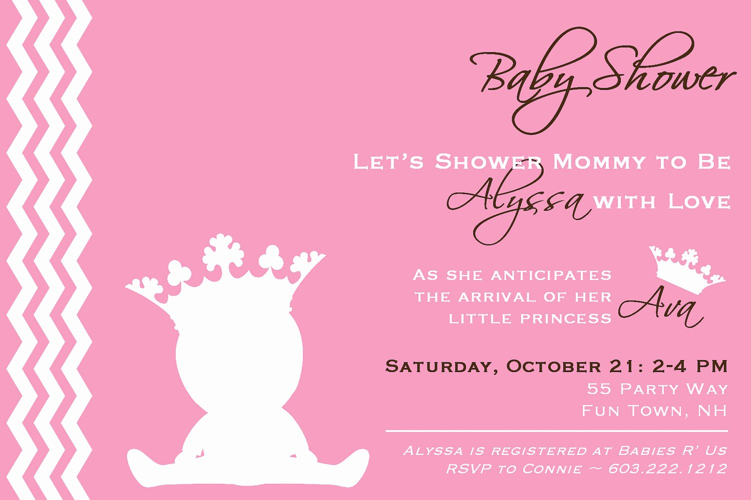 Princess Baby Shower Invitations Best Of Princess Baby Shower Invitation Girl Princess Baby Shower
