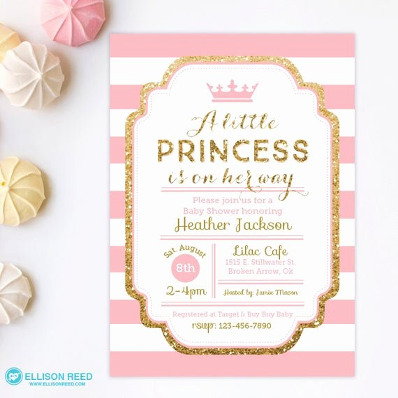 Princess Baby Shower Invitations Best Of Princess Baby Shower Invitation Pink and Gold Baby Shower