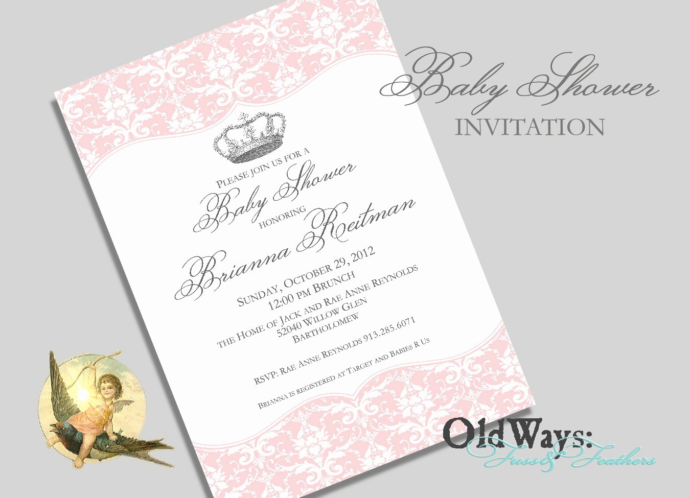 Princess Baby Shower Invitations Elegant Princess Baby Shower Invitation for A Girl by