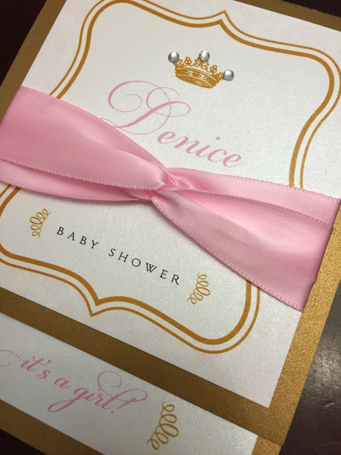 Princess Baby Shower Invitations Fresh Princess Baby Shower Invitations by Anaderoux On Etsy