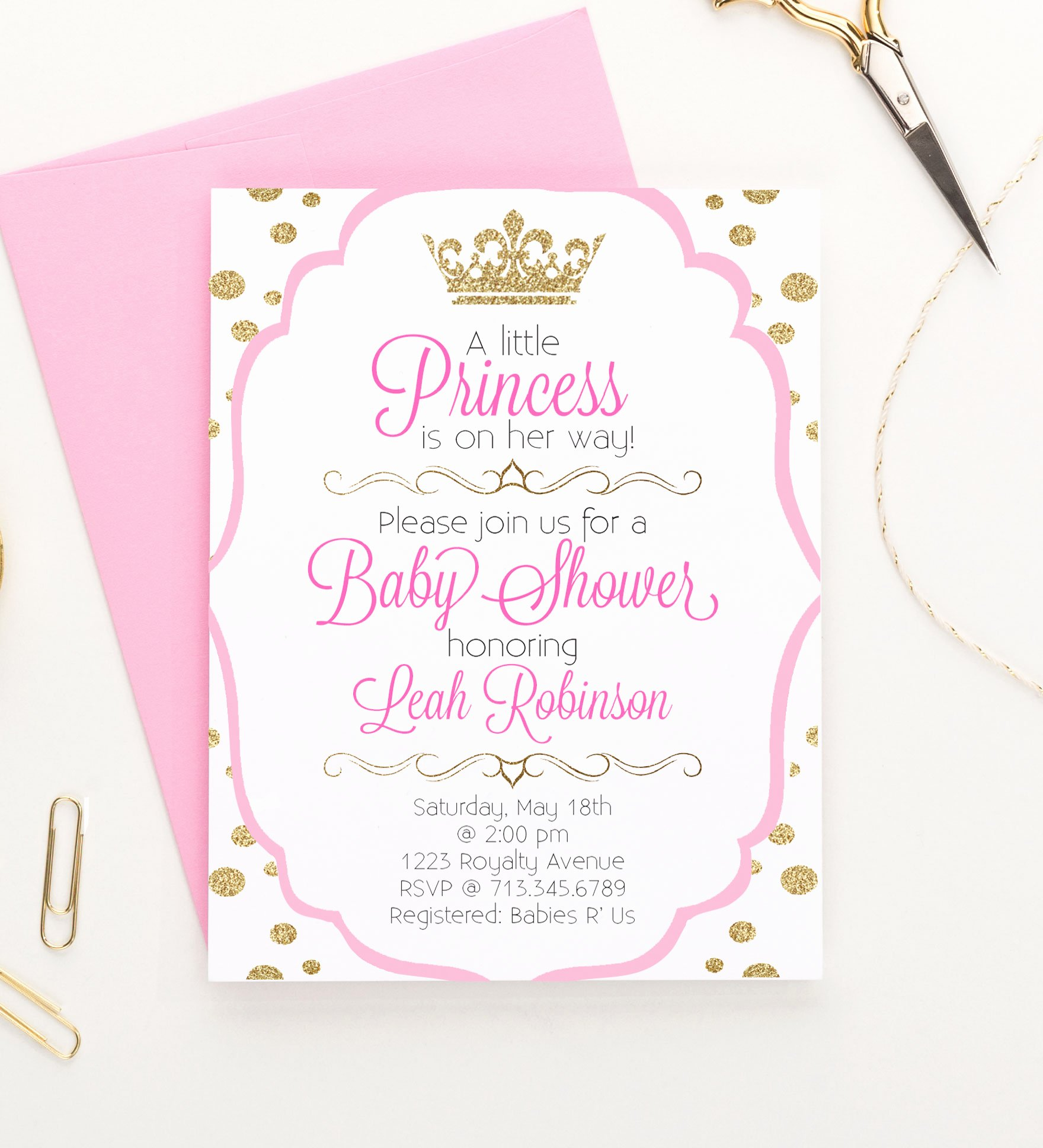 Princess Baby Shower Invitations Fresh Princess Baby Shower Invitations Little Princess Baby