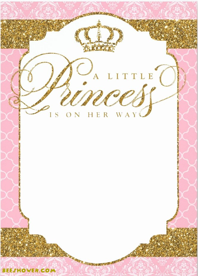 Princess Baby Shower Invitations Fresh Princess themed Baby Shower Ideas