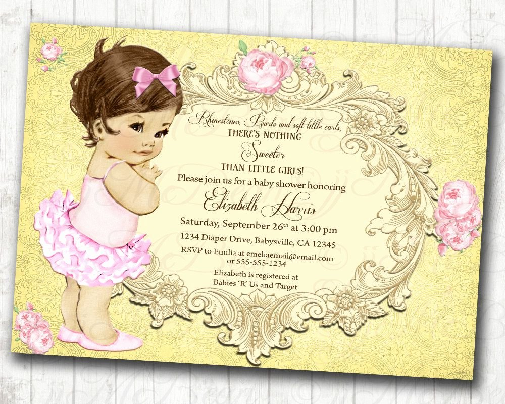 Princess Baby Shower Invitations Inspirational Princess Baby Shower Invitation Girl Baby Shower
