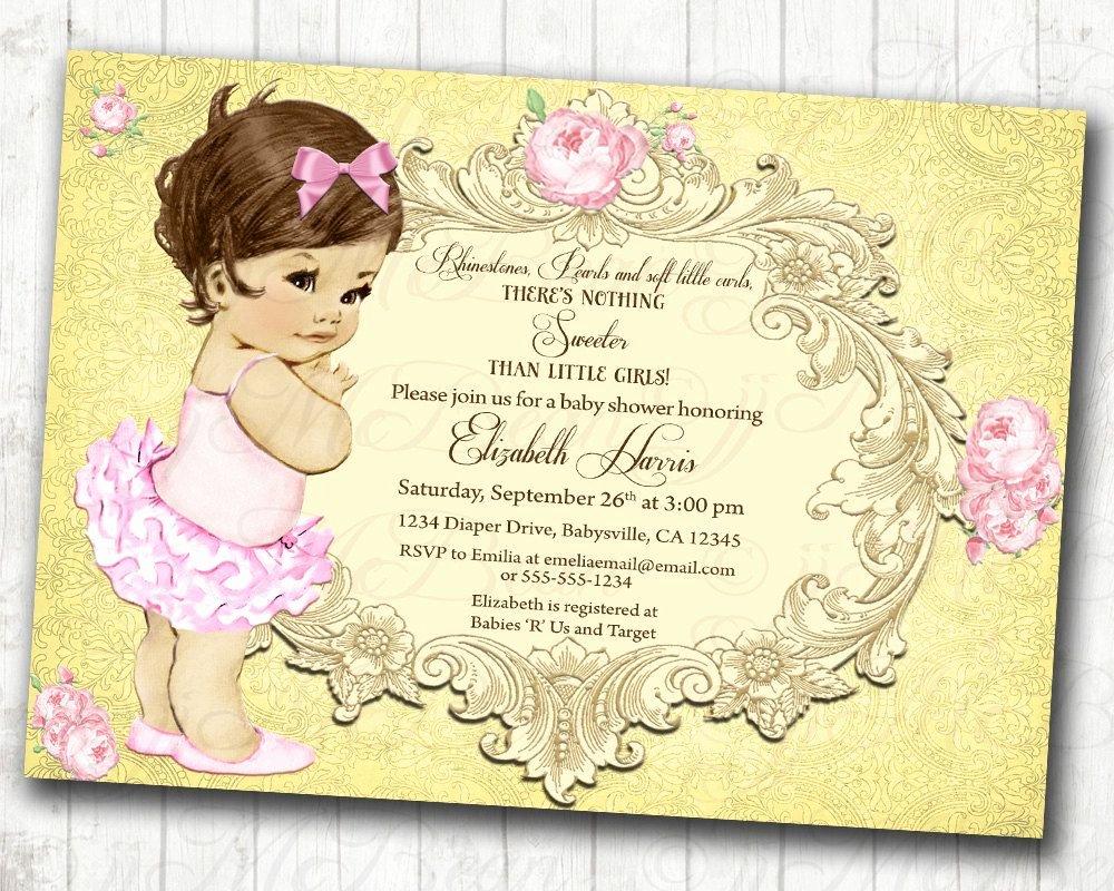 Princess Baby Shower Invitations Inspirational Princess Baby Shower Invitation Girl Baby Shower