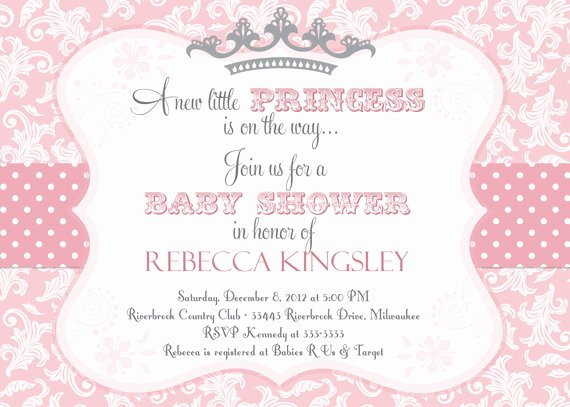 Princess Baby Shower Invitations Inspirational Princess themed Baby Shower Ideas