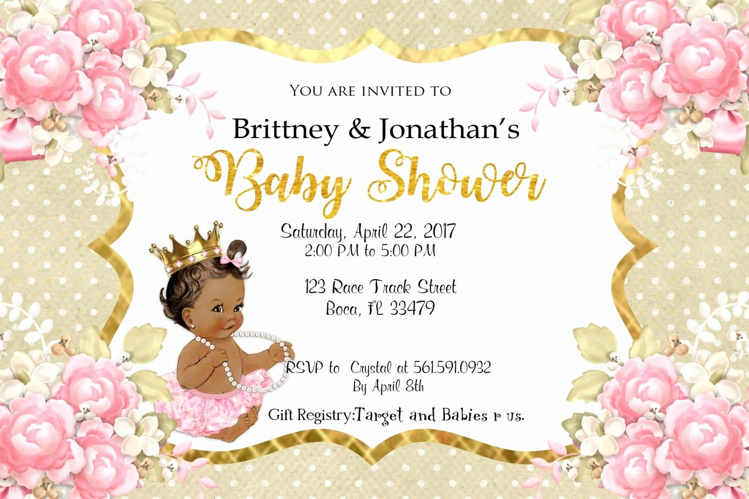 Princess Baby Shower Invitations Luxury Little Princess Baby Shower Invitation Princess Baby