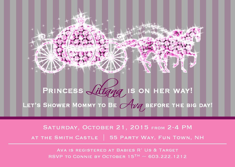 Princess Baby Shower Invitations Luxury Princess Baby Shower Invitation Girl Princess Baby Shower