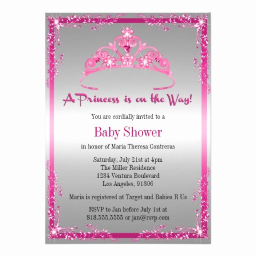 Princess Baby Shower Invitations Luxury Princess Baby Shower Invitation