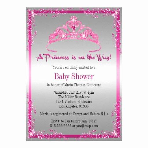 Princess Baby Shower Invitations Luxury Princess Baby Shower Invitation