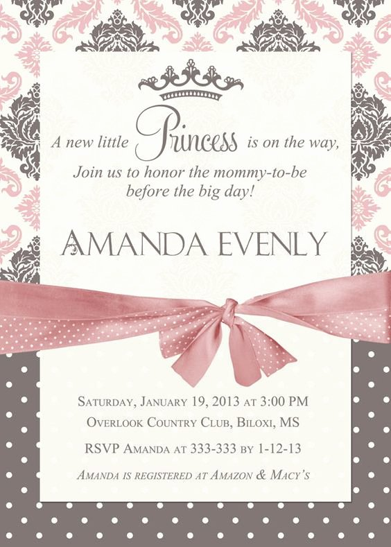 Princess Baby Shower Invitations Unique Princess Baby Shower Invitation Little Princess Baby