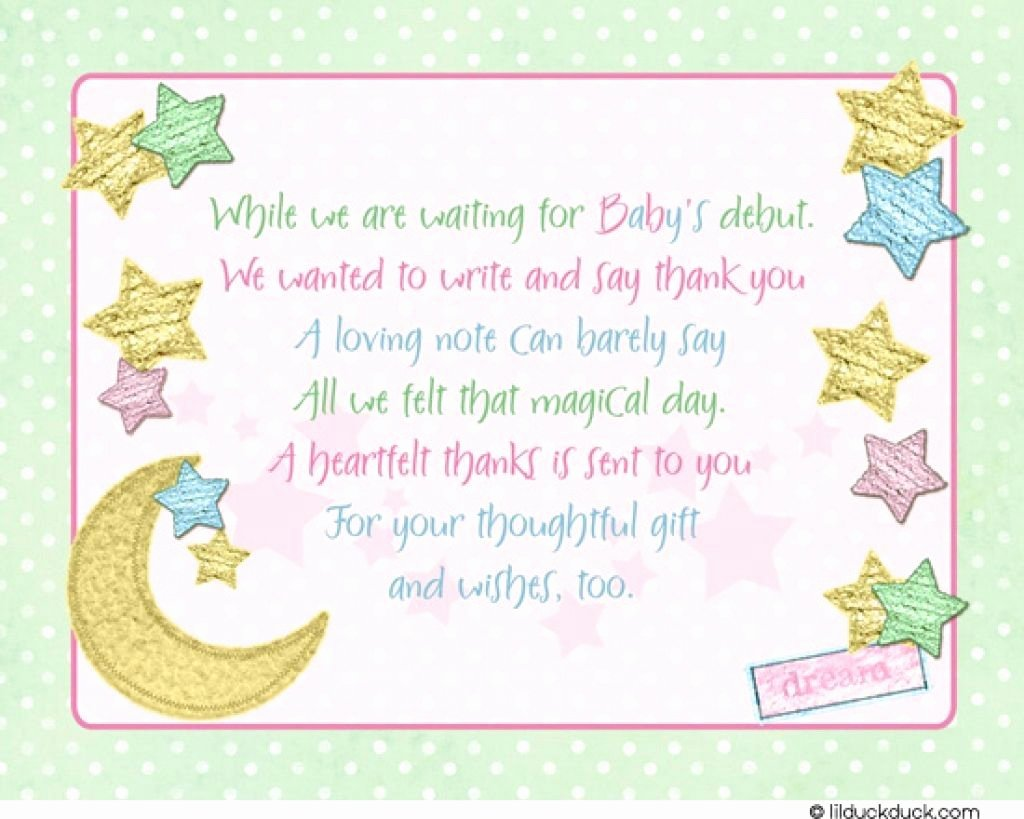 Printable Baby Shower Cards Best Of Baby Shower Thank You Cards Printable