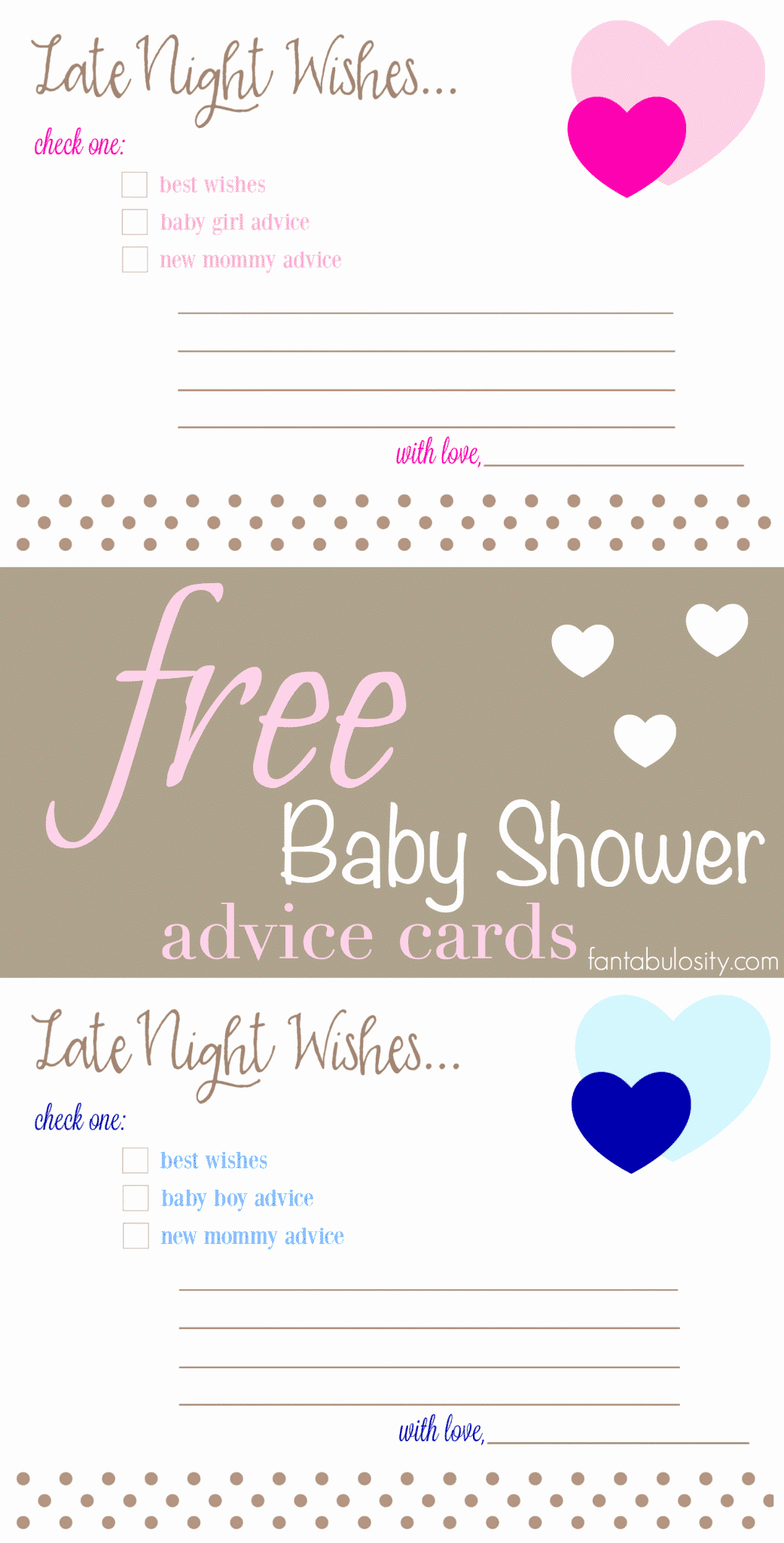 Printable Baby Shower Cards Inspirational Free Printable Baby Shower Advice & Best Wishes Cards