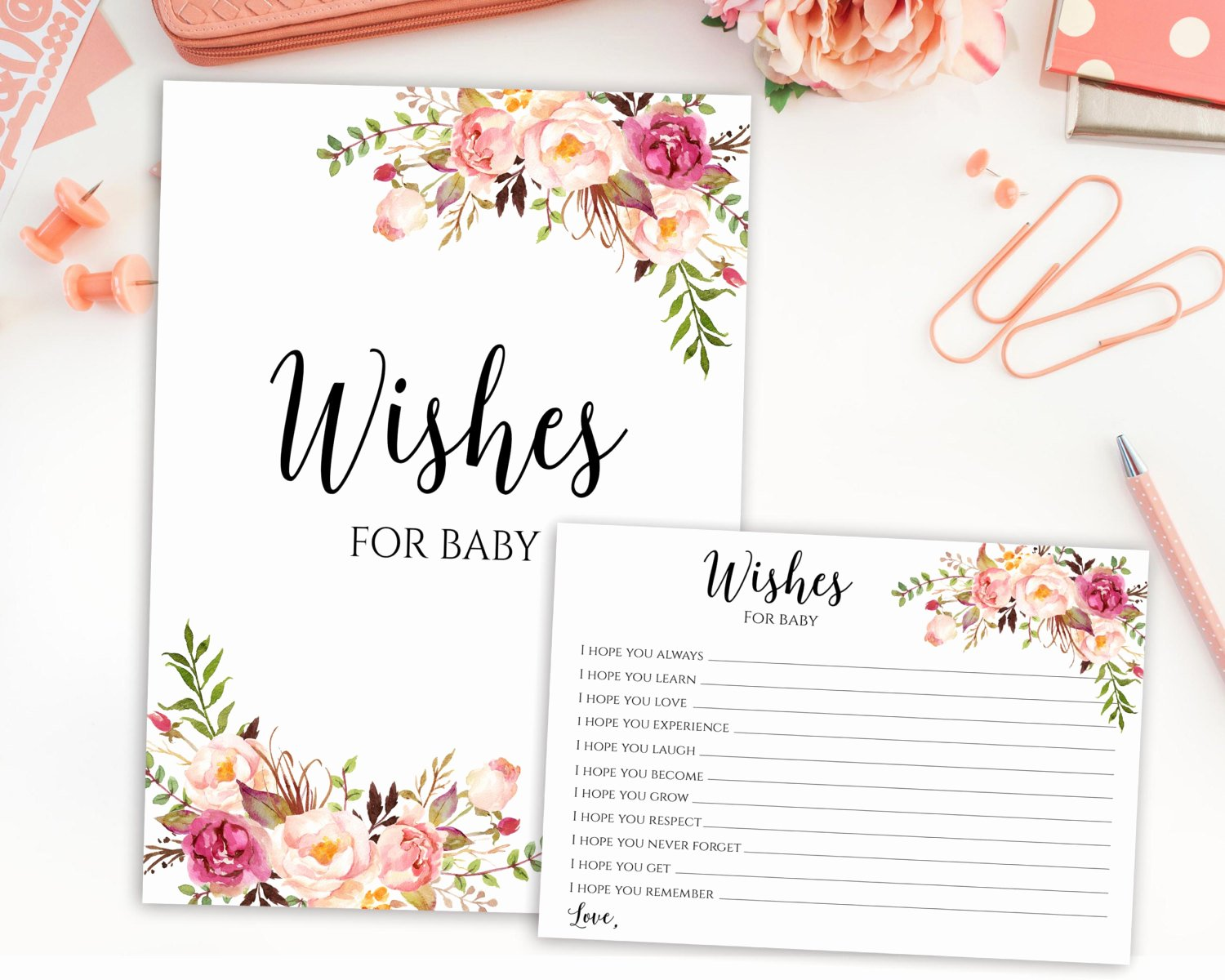 Printable Baby Shower Cards Inspirational Wishes for Baby Baby Shower Printable Wishes for Baby