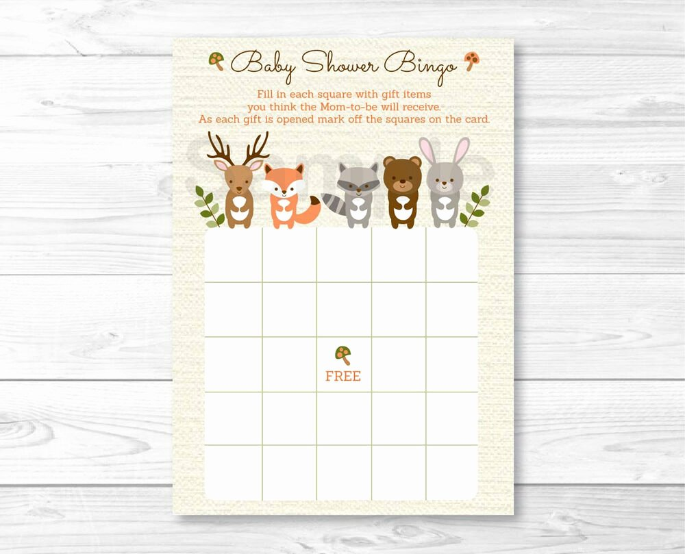 Printable Baby Shower Cards Luxury Woodland forest Animals Gender Neutral Printable Baby